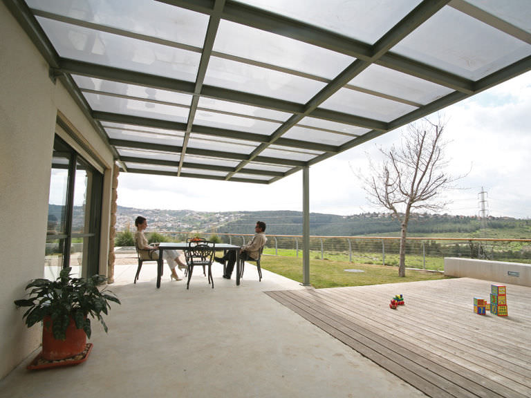 Exceptional ... Polycarbonate Roofing Sheet / Curved SUNGLAZE™ PALRAM ...