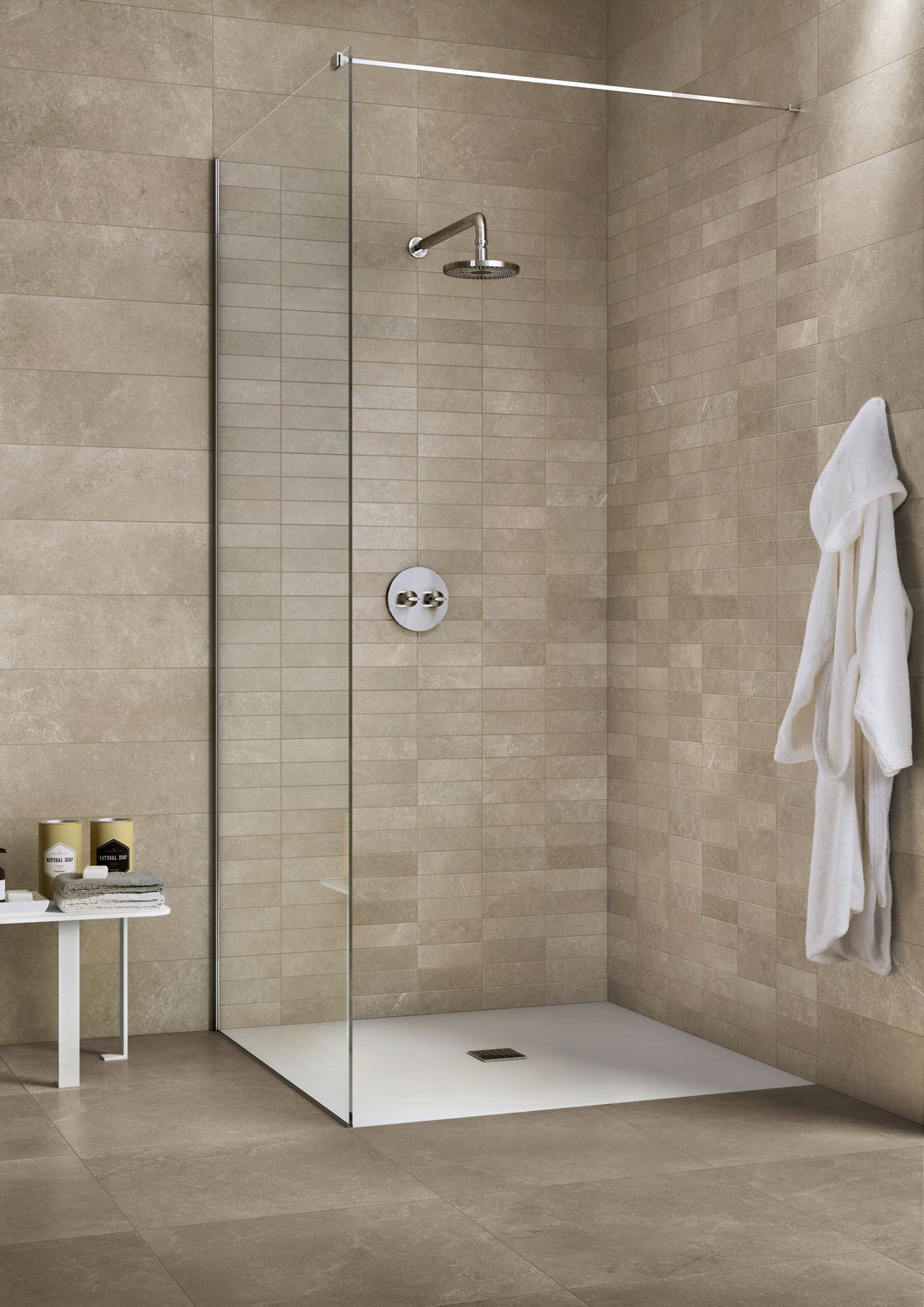 Indoor tile / outdoor / wall / for floors - PRIME STONE : GREIGE ...