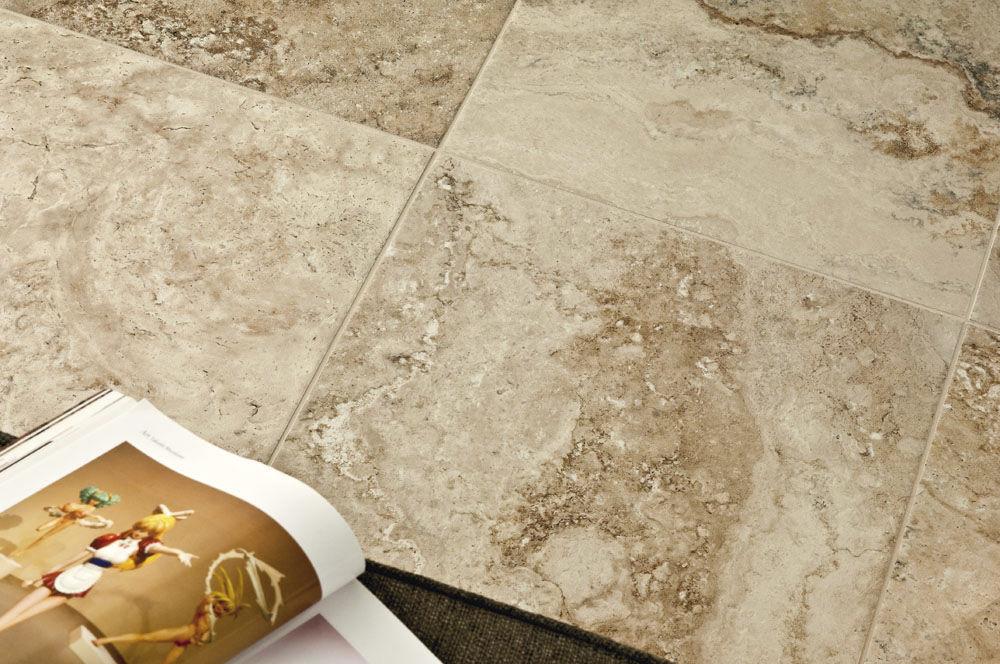 Indoor tile / for floors / porcelain stoneware / polished - D ...