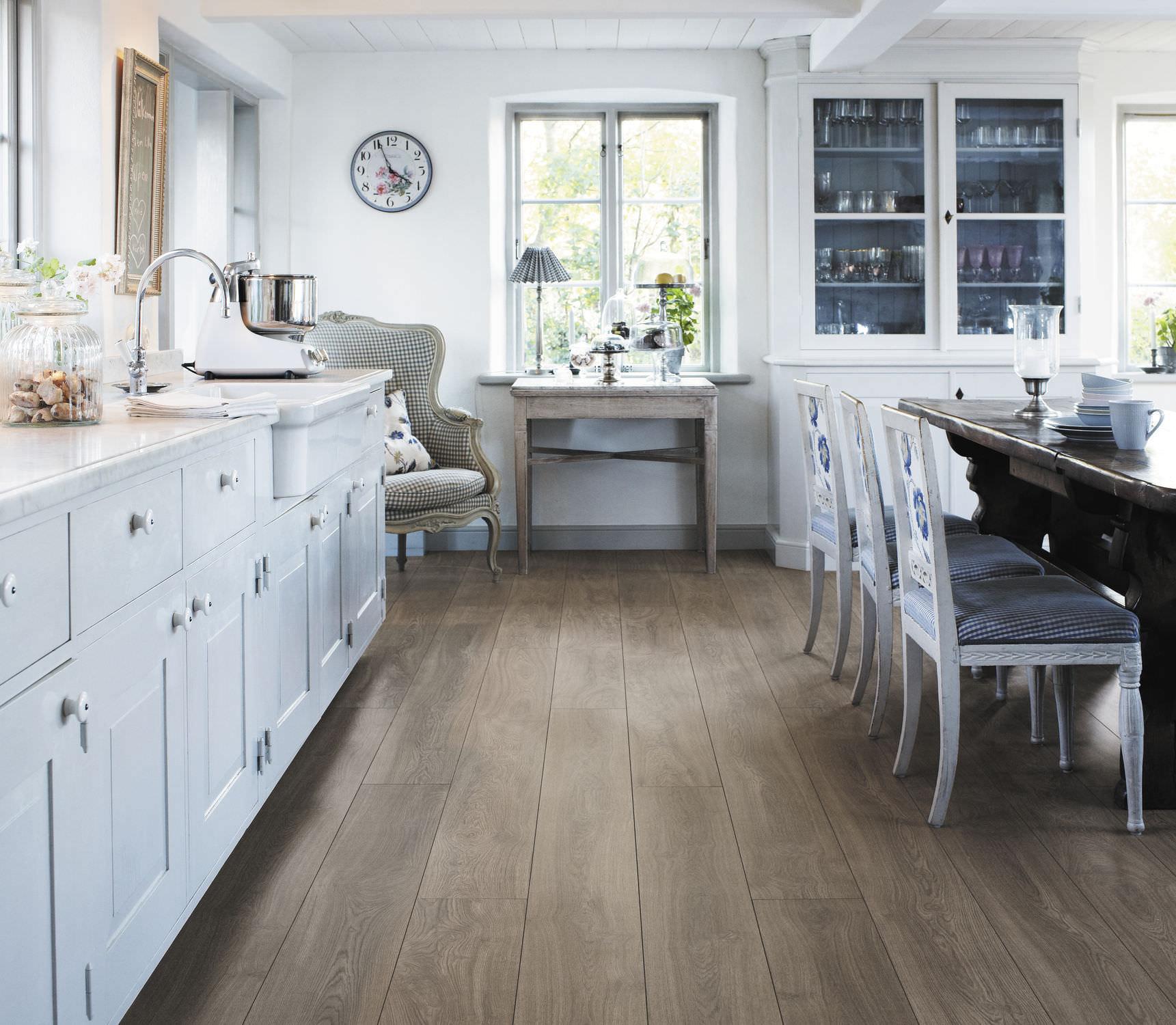 Laminate Flooring Wood Look hdf laminate flooring / click-fit / wood look / commercial - burnt