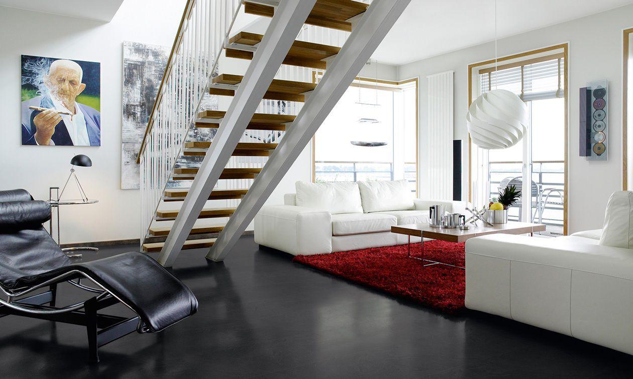 HDF Laminate Flooring / Click Fit / Stone Look / Tile Look MEDIUM GREY  SLATE ...