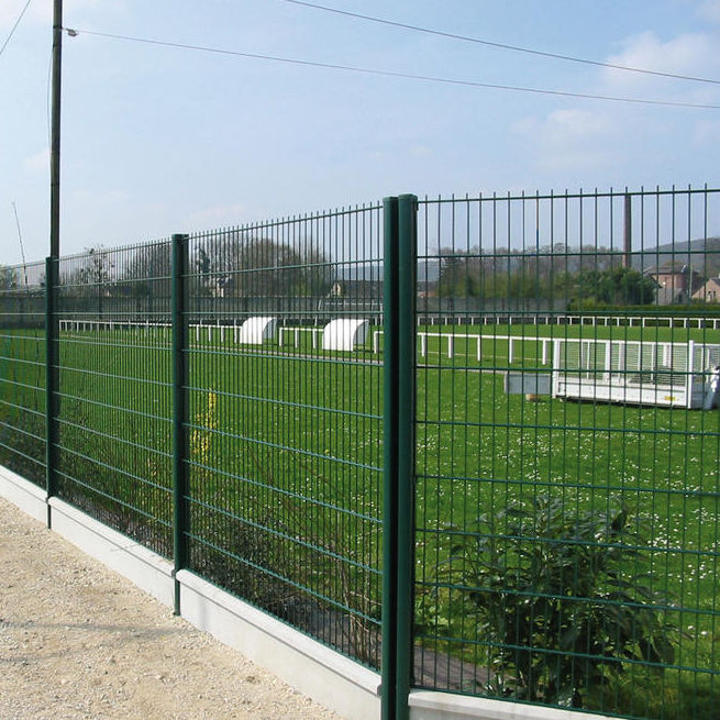 Garden fence / for public spaces / welded mesh / steel - 656 ...