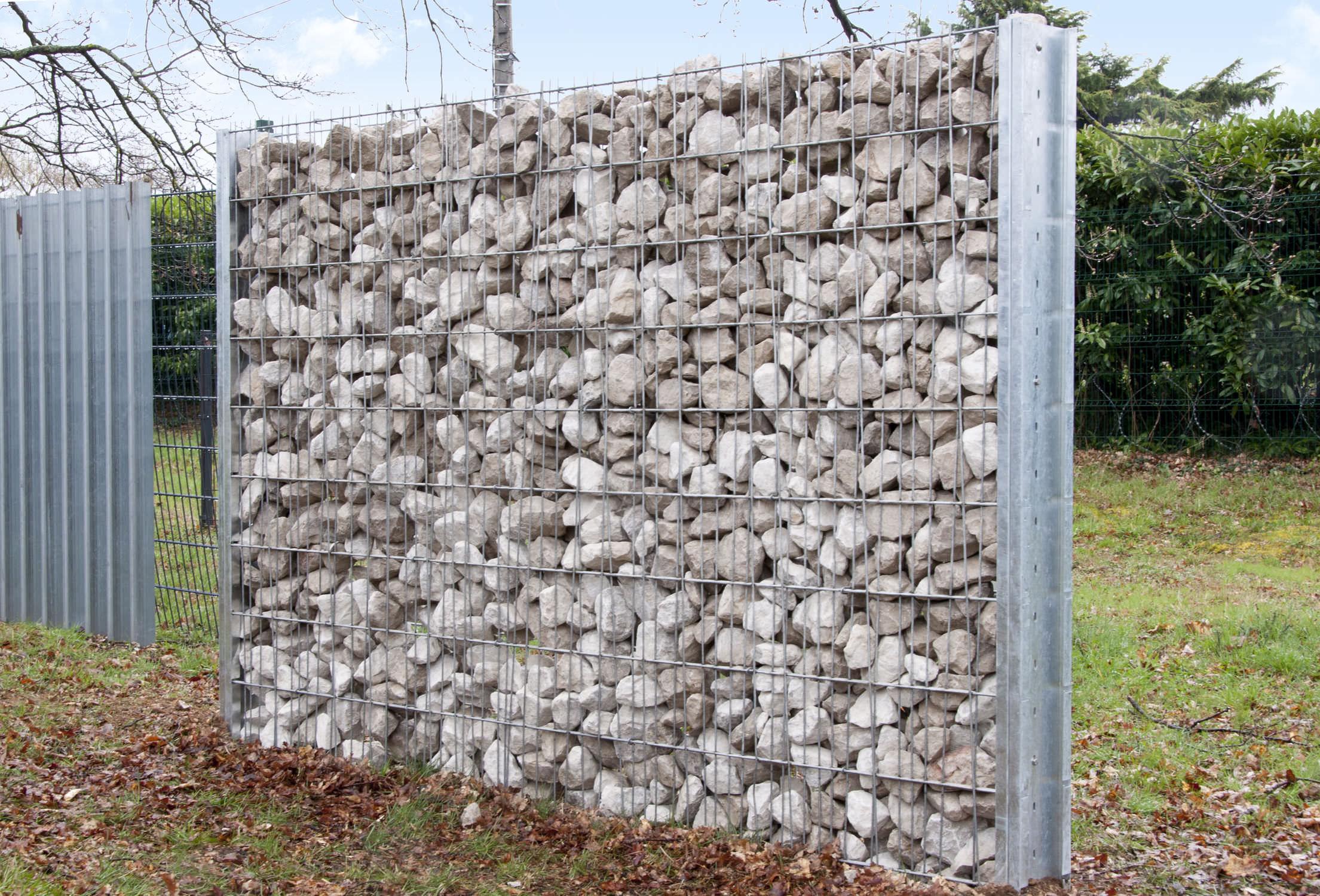 Garden fence / for public spaces / wire mesh / steel - GABION ...