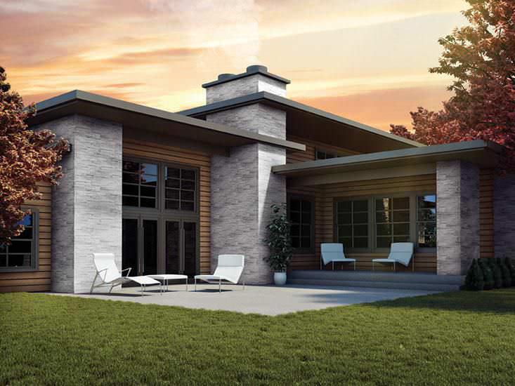 Polymer wall cladding / exterior / 3D / stone look - NOVISTONE™ DS ...