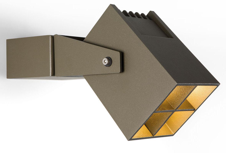 Wall-mounted spotlight / garden / LED / square - JULIEN - Modular ...