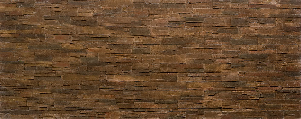 Composite Wall Cladding Polyester Indoor Outdoor Brown Stone Like Strata