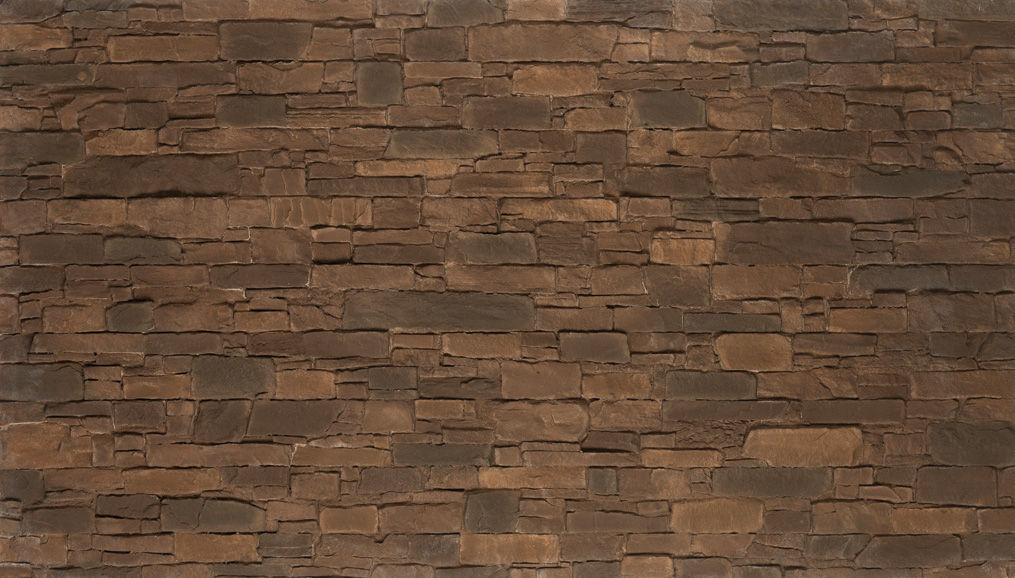 Composite Wall Cladding Polyester Outdoor Indoor Brown Navarrete Stone Like Strata