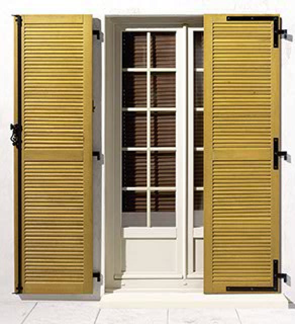 Swing shutter / wooden / door - MENUISERIES ELVA