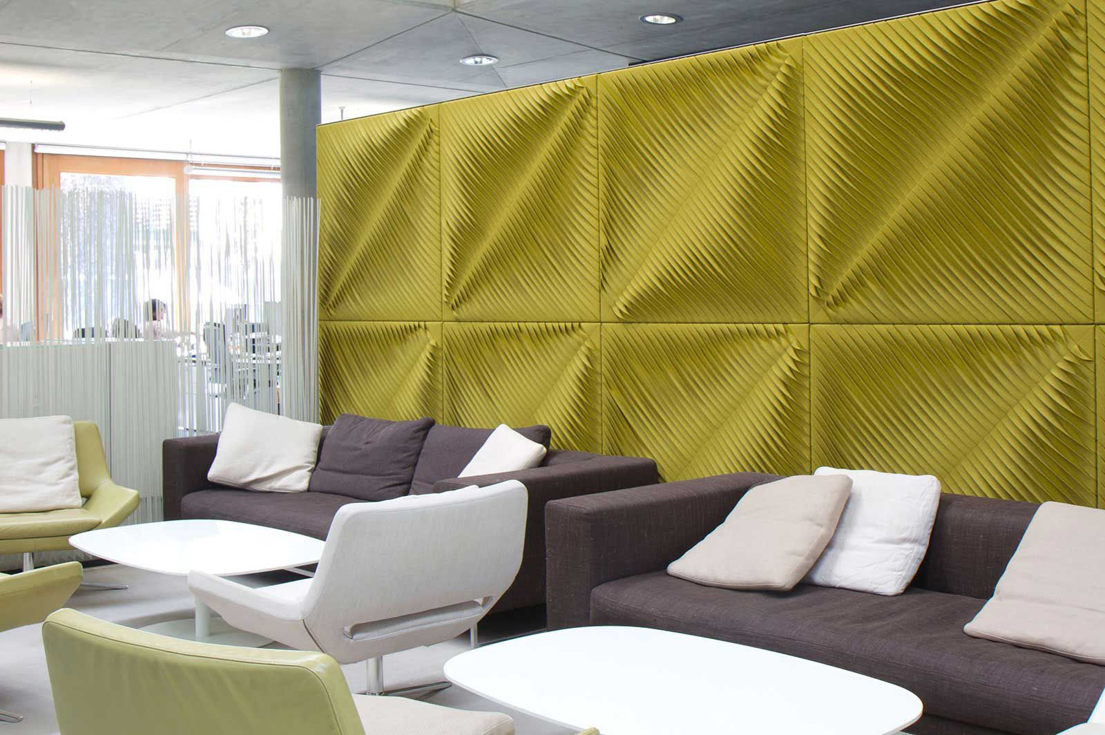 Fabric decorative panel / for partition walls / 3D - LAWN TENNIS ...