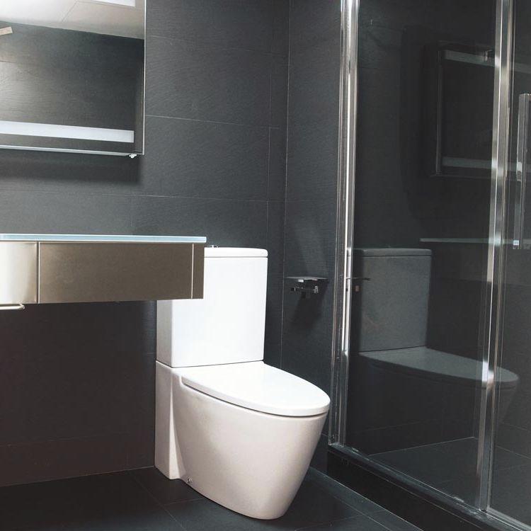 Carrelage sol salle de bain blanc brillant: carrelage sol et mur ...