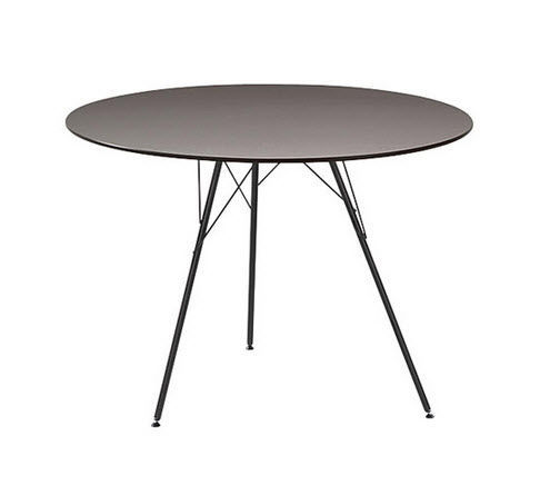 contemporary table contemporary table hpl round square leaf arper