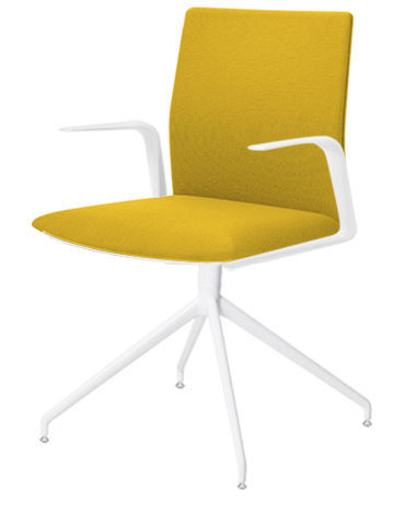 contemporary office chair / fabric / leather / aluminum - kinesit