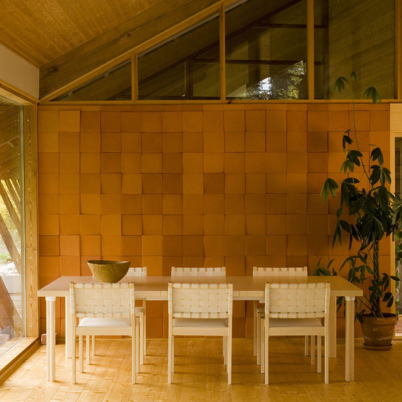 contemporary chair upholstered stackable linen 611 artek