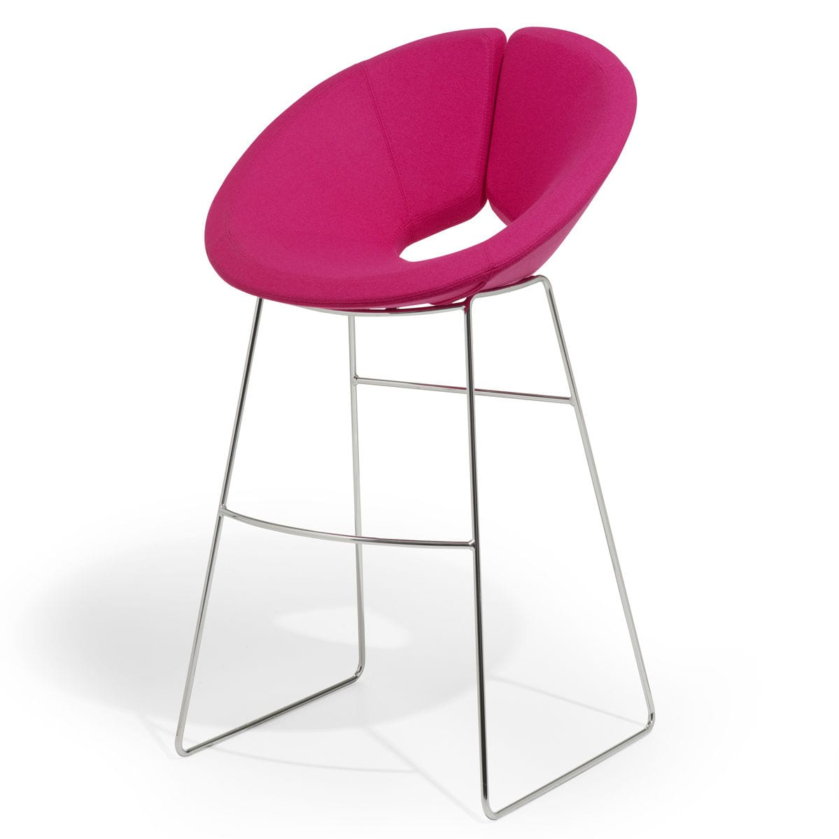 contemporary bar chair / with footrest / upholstered / sled base - LITTLE APOLLO  sc 1 st  ArchiExpo & Contemporary bar chair / with footrest / upholstered / sled base ...