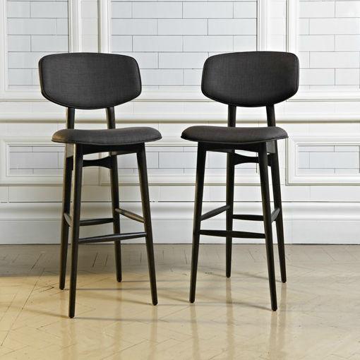 contemporary bar chair fabric oak walnut butterfly autoban