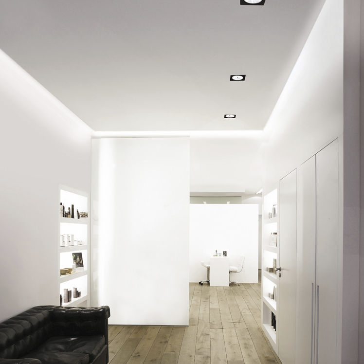 recessed downlight led halogen square deep cove system by