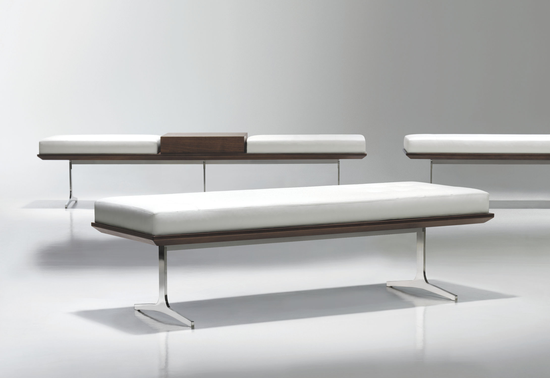 Contemporary upholstered bench   wooden   metal   by Arik Levy   ARGON. Contemporary upholstered bench   wooden   metal   by Arik Levy