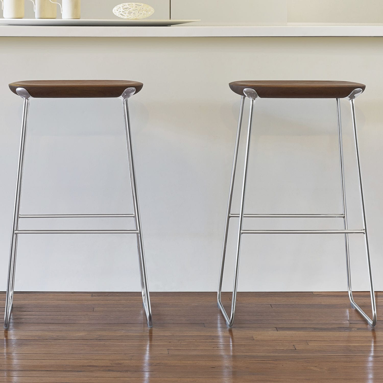 bar stool wooden metal laine by defne koz