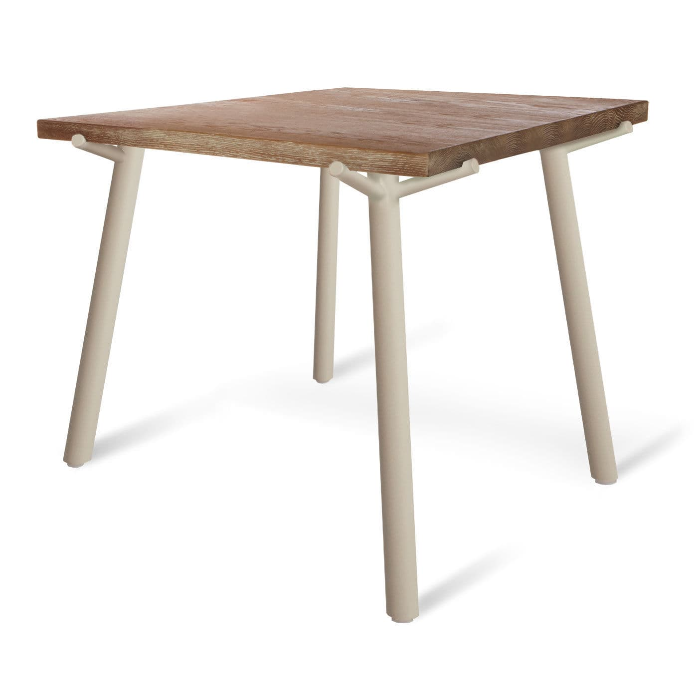 Contemporary dining table   oak   solid wood   powder coated steel  BRANCH BLU DOT. Contemporary dining table   oak   solid wood   powder coated steel