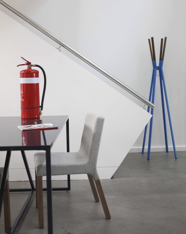 contemporary chair upholstered walnut hardwood knicker blu dot