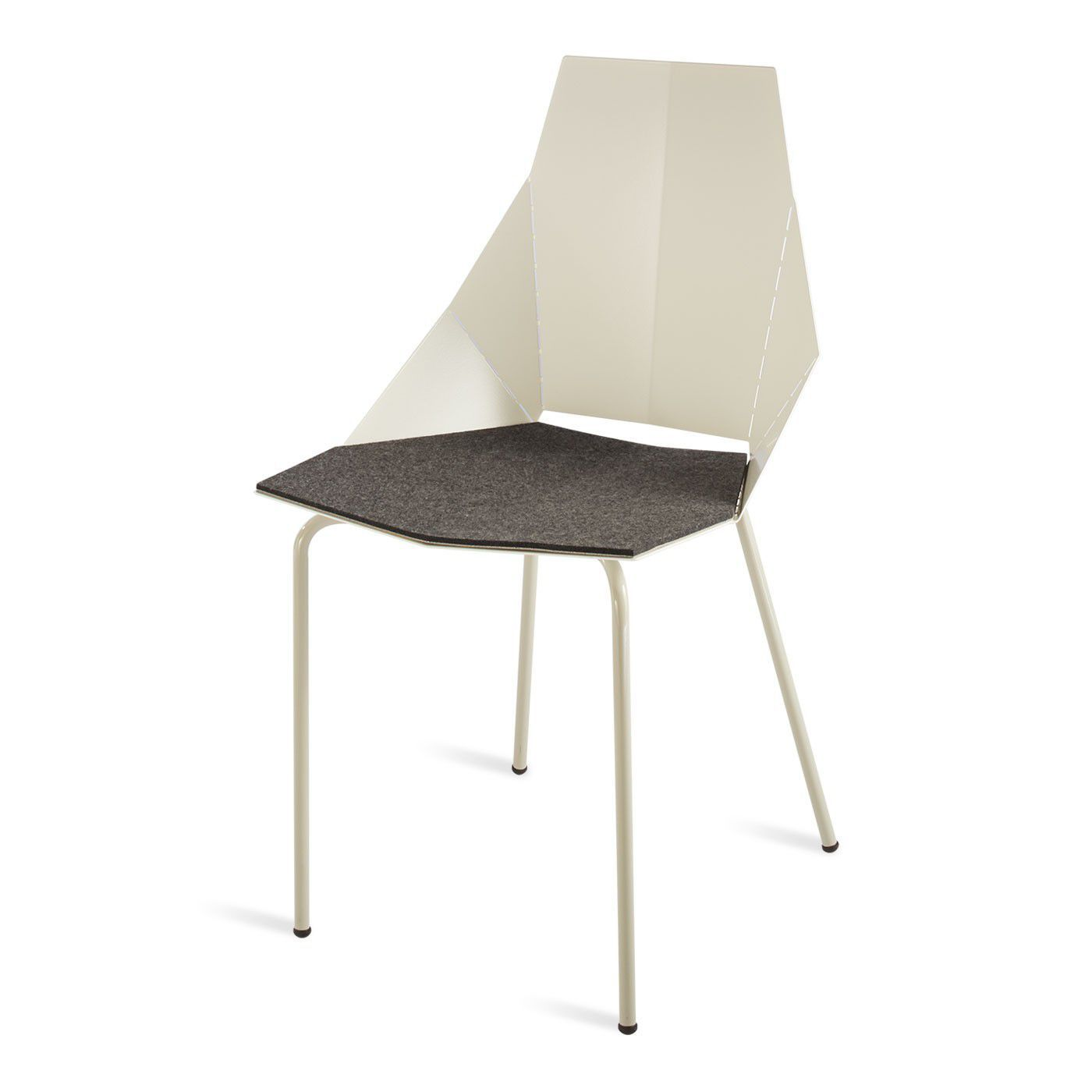 Contemporary chair leather copper powder coated steel REAL