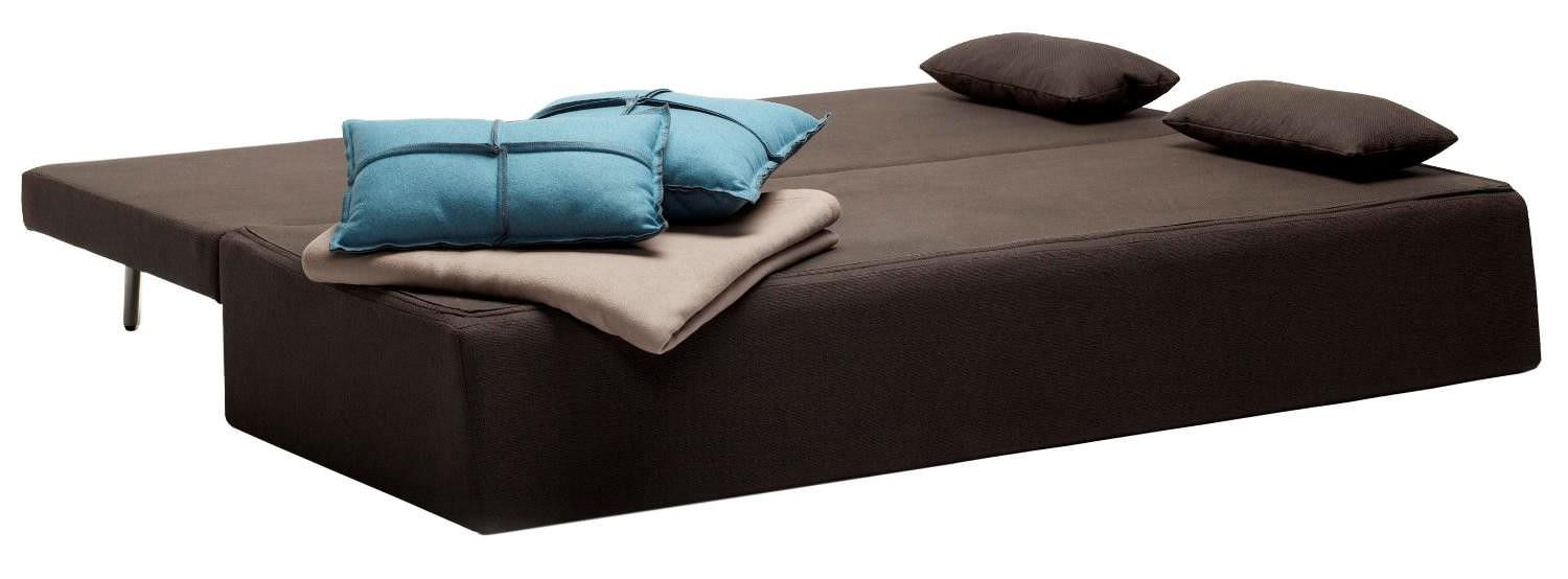 sofa bed fabric brown one night stand blu dot
