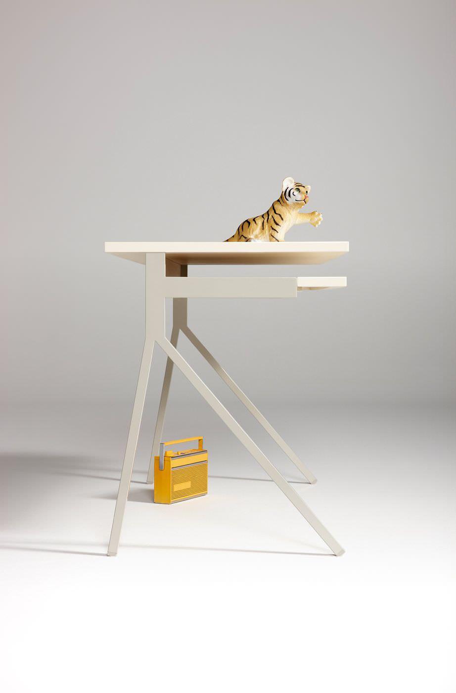 ... Multimedia desk / wooden / powder-coated steel / contemporary 51 BLU DOT  ...