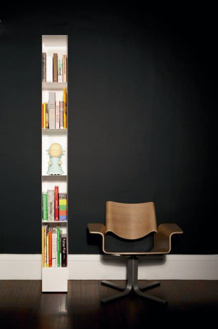 High Bookcase Contemporary For Offices Steel Totem Blu Dot
