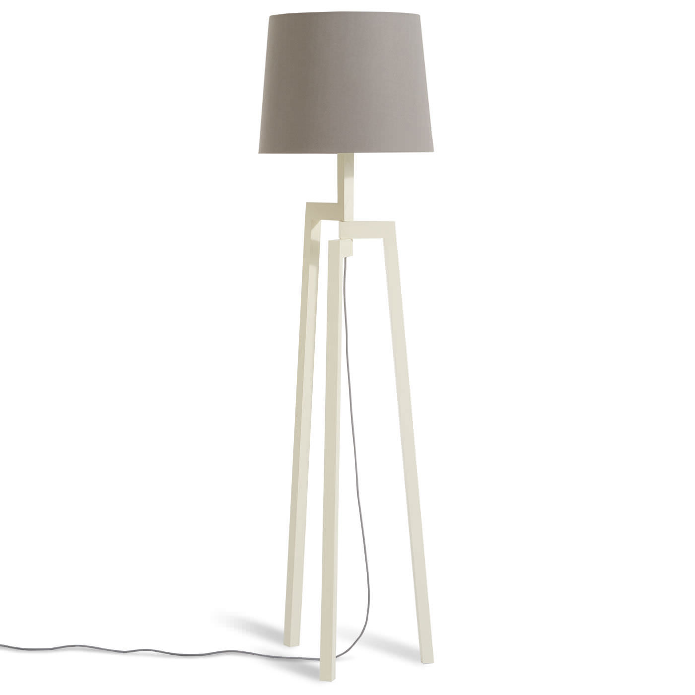 Floor Standing Lamp Contemporary Fabric Ash Stilt