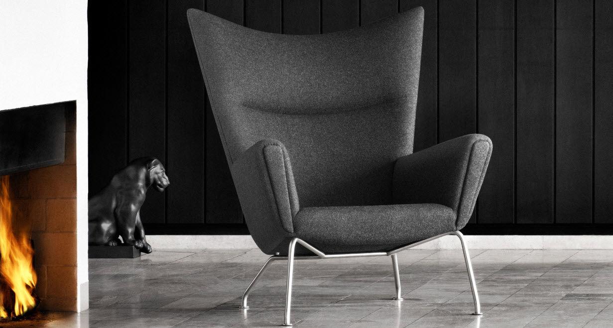 Contemporary Armchair / Leather / By Hans J. Wegner CH445 Carl Hansen U0026 ...