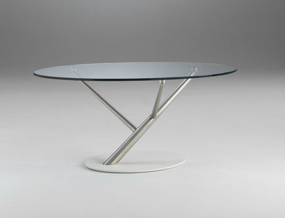 Contemporary Coffee Table Glass Oval Tree By F Di Martino R S Exde Cattaneo