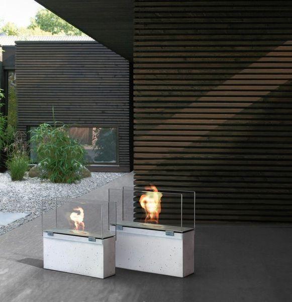 Bioethanol Fireplace / Contemporary / Open Hearth / Free Standing   MURO By  Sebastian David Büscher