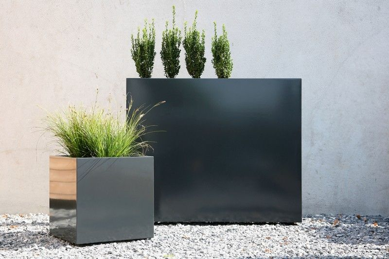 Conmoto Sotomon galvanized steel planter square contemporary flowerbox by
