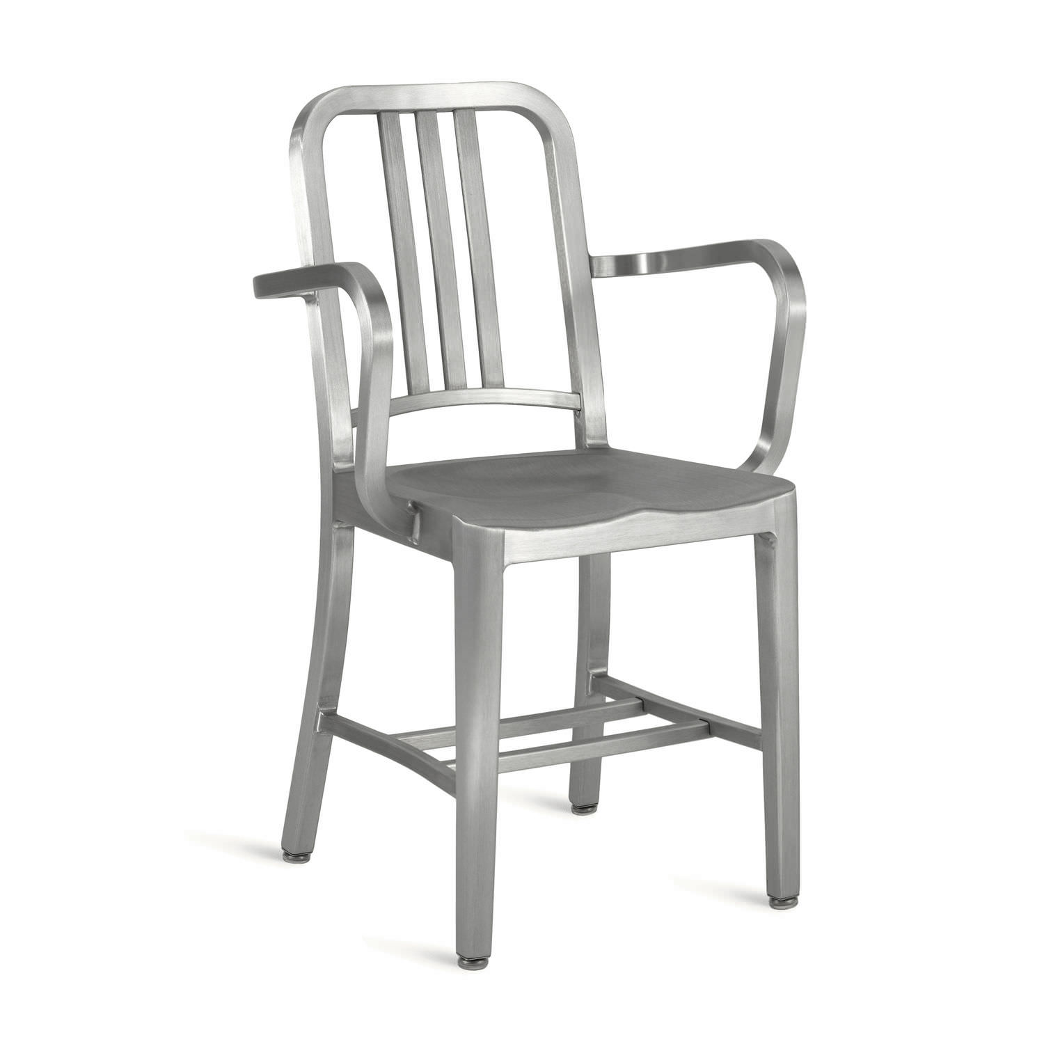 chair aluminum with armrests navy 1006a