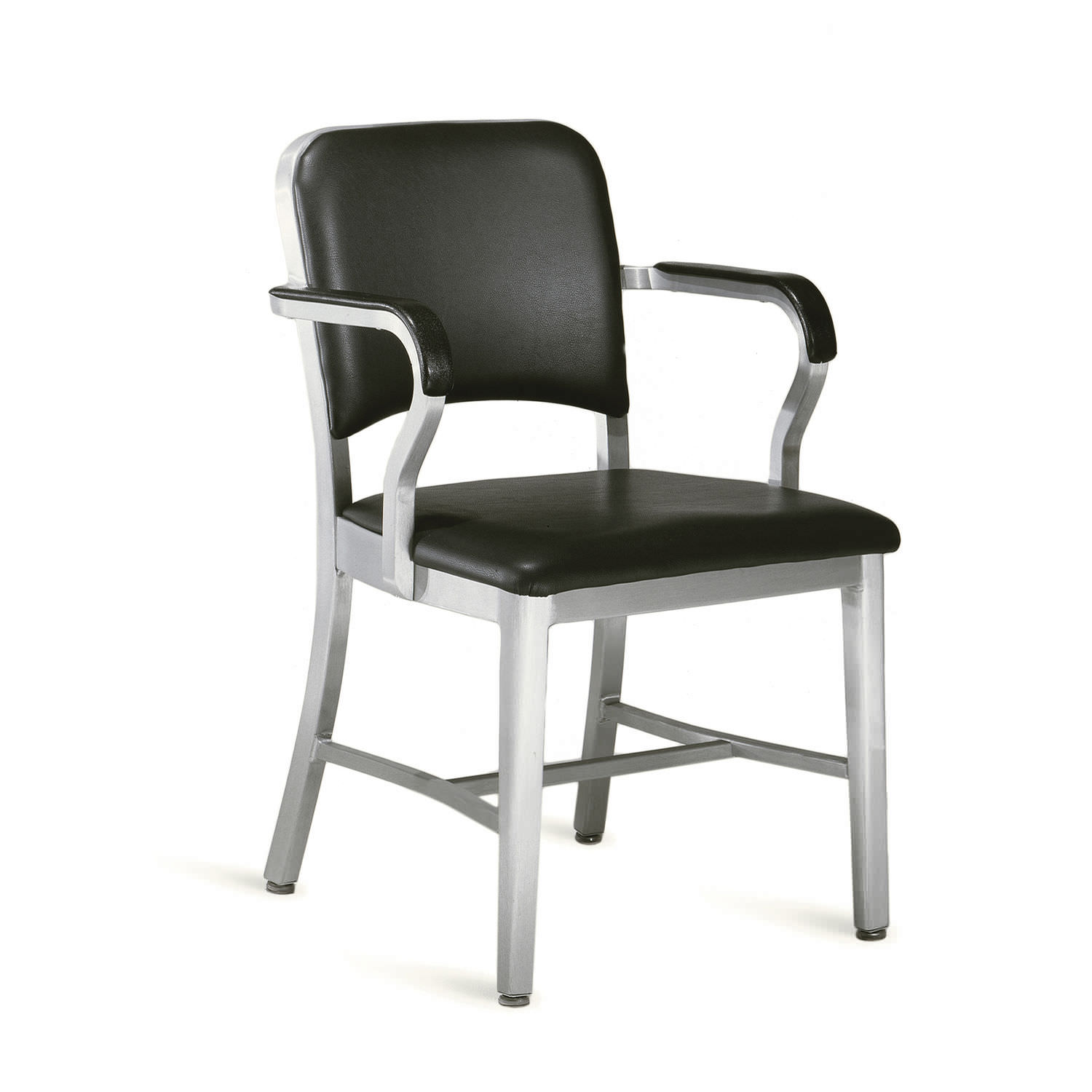 contemporary chair with armrests aluminum navy 1001 emeco