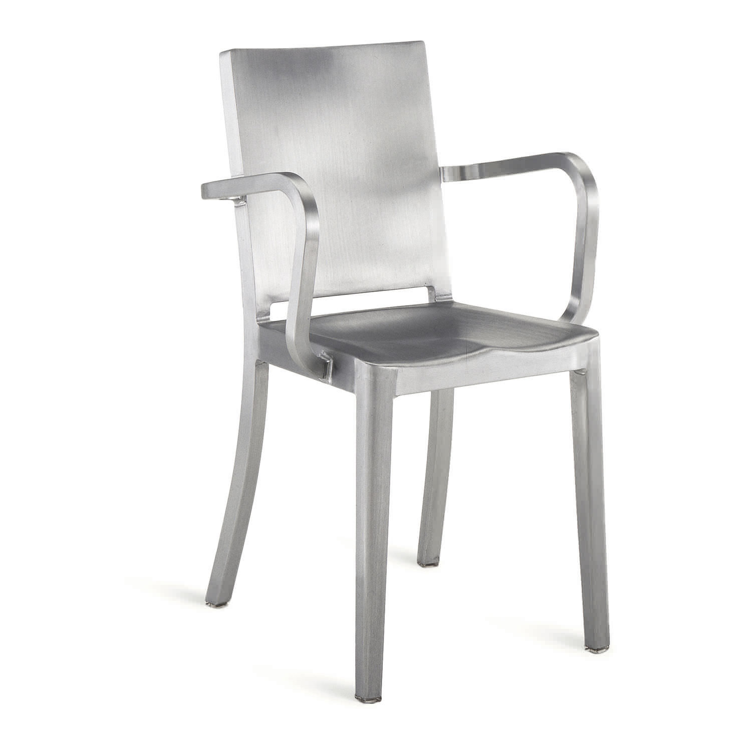 chair aluminum with armrests by philippe starck hudson hud a