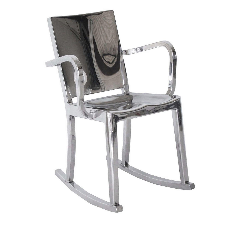 Contemporary chair rocker metal aluminium HUDSON HUDROC