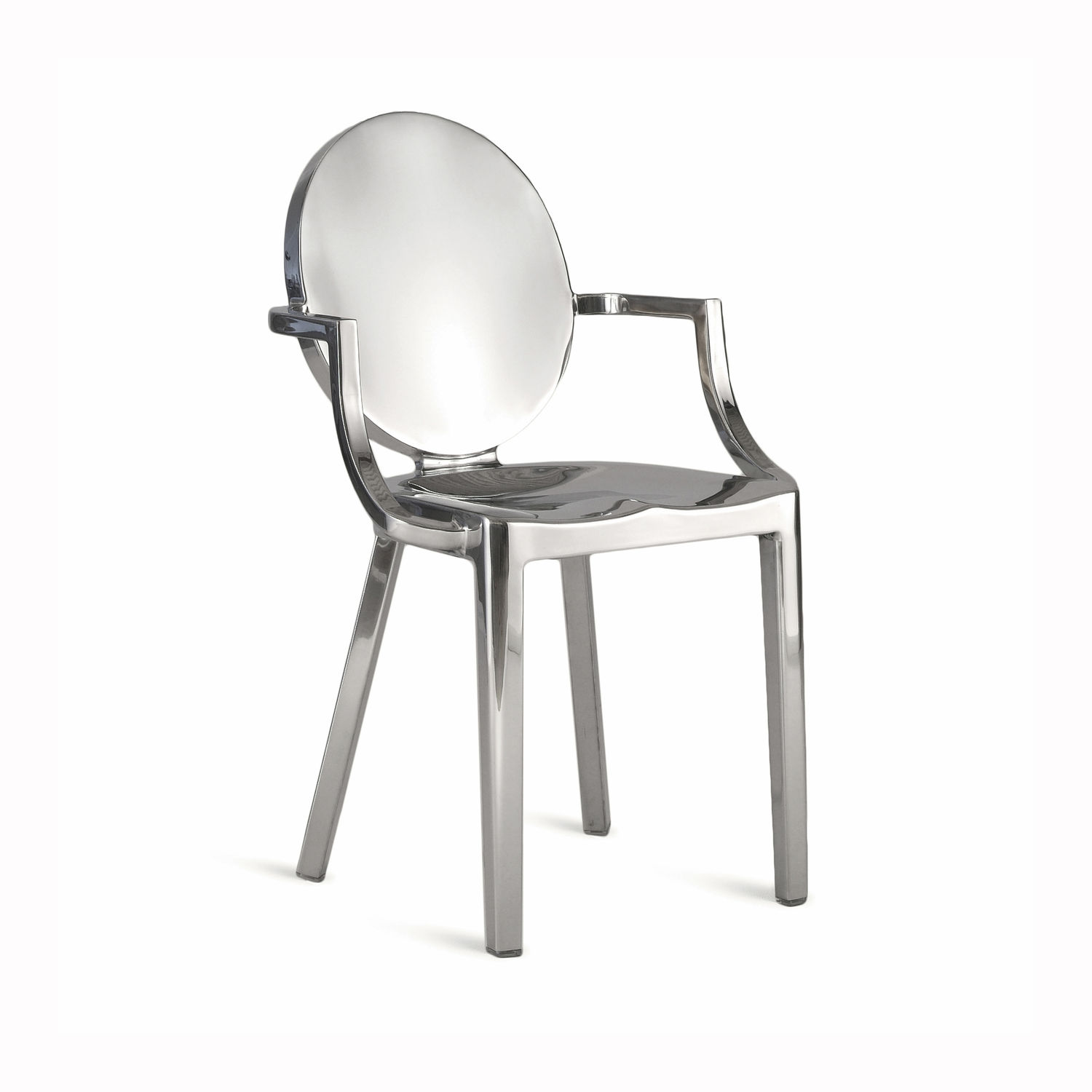 Contemporary chair / medallion / aluminum / by Philippe Starck - KONG :  KONG AP