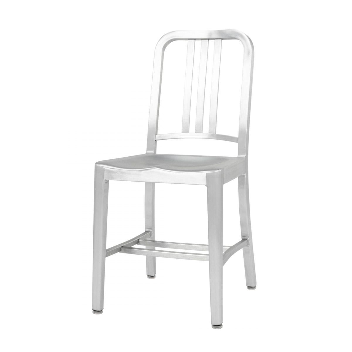 chair aluminum recycled commercial navy emeco