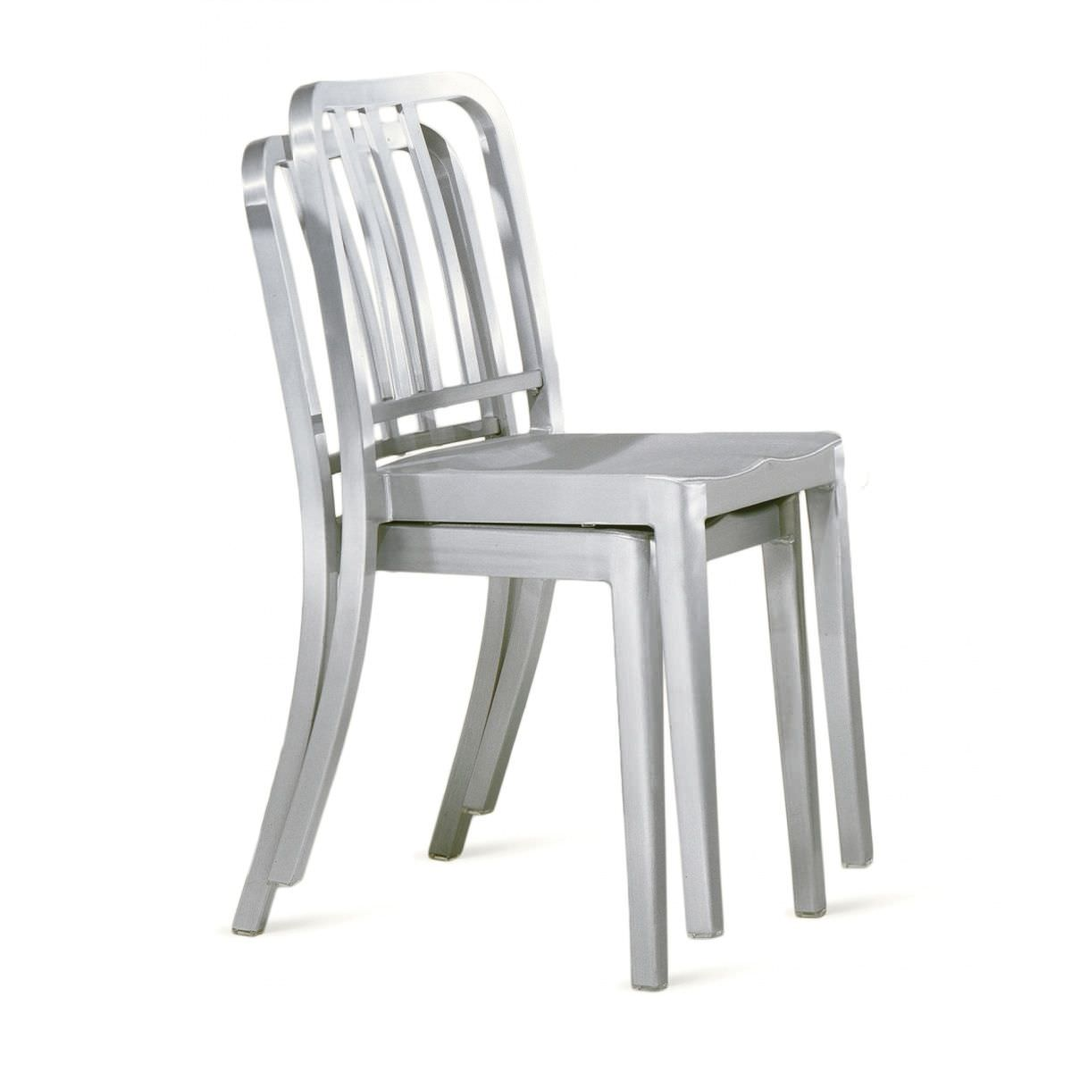 Contemporary Restaurant Chair / Stackable / Wooden / Aluminium HERITAGE :  HER Emeco ...