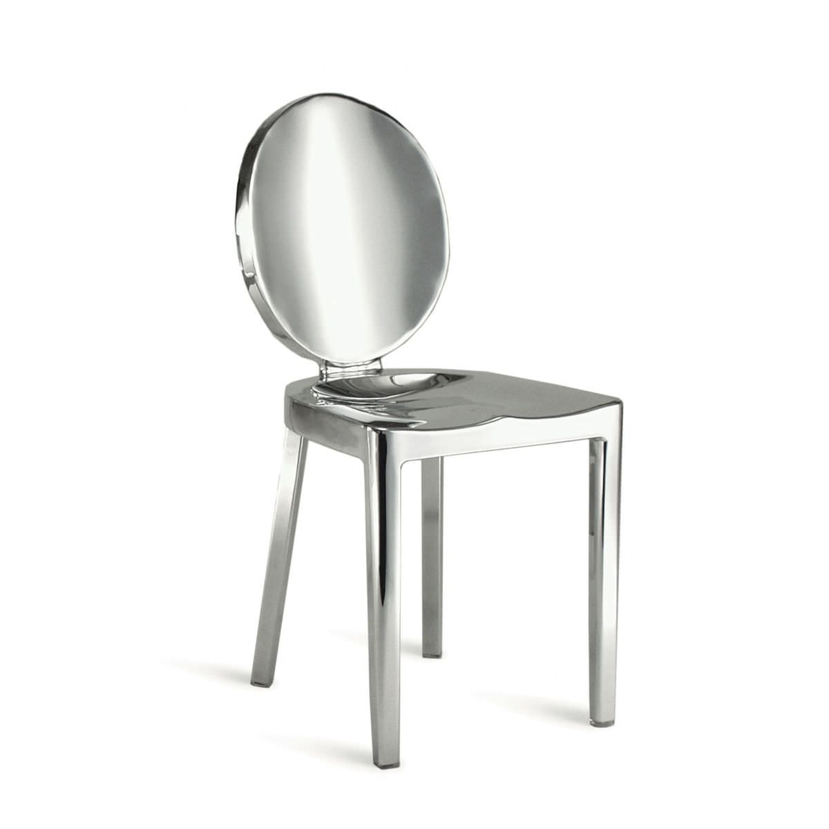 Contemporary chair / medallion / aluminium / by Philippe Starck - KONG :  KONG P