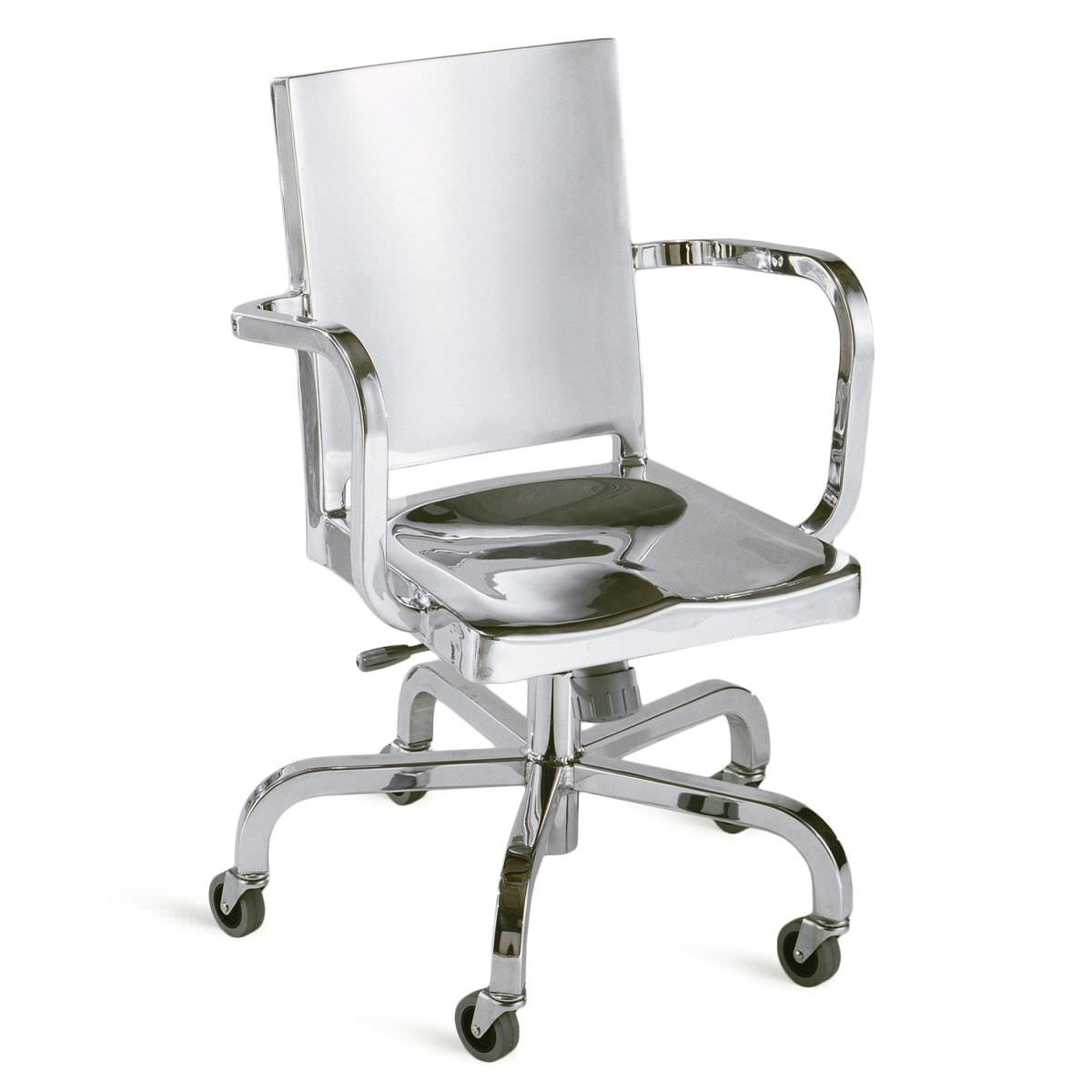 contemporary office chair on casters star base metal hudson