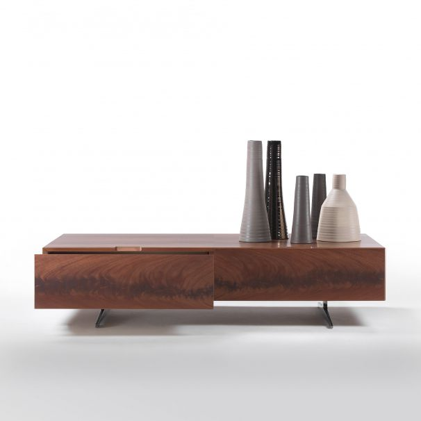 Lowboard kirschbaum  Contemporary coffee table / wooden / rectangular / with drawer ...