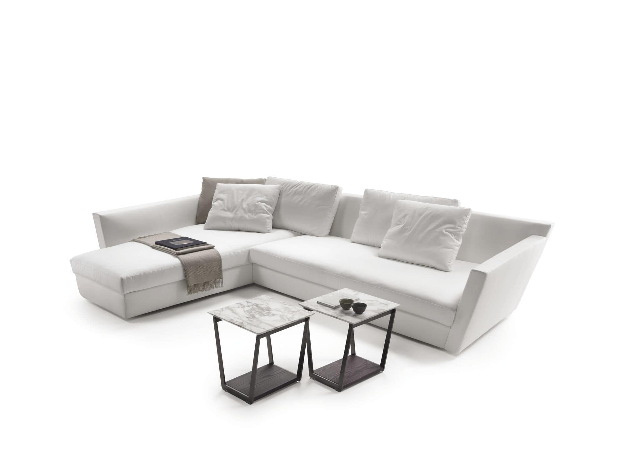 White Leather Modular Sofa Hmmi