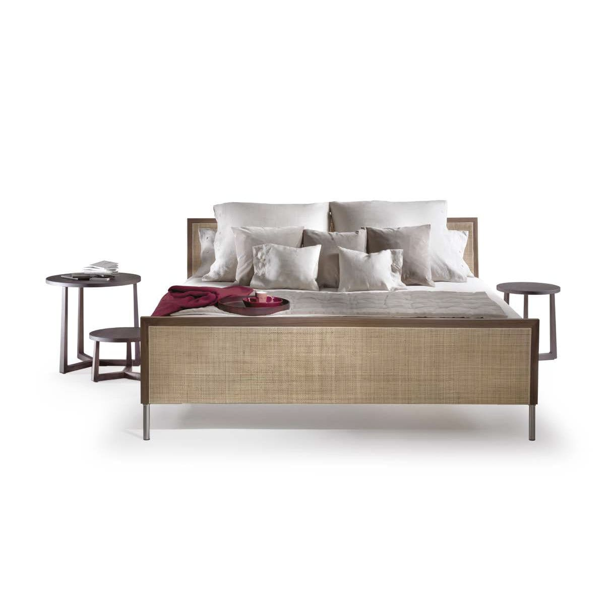 Double Bed Contemporary With Headboard Wooden Piano By Asnago Vender