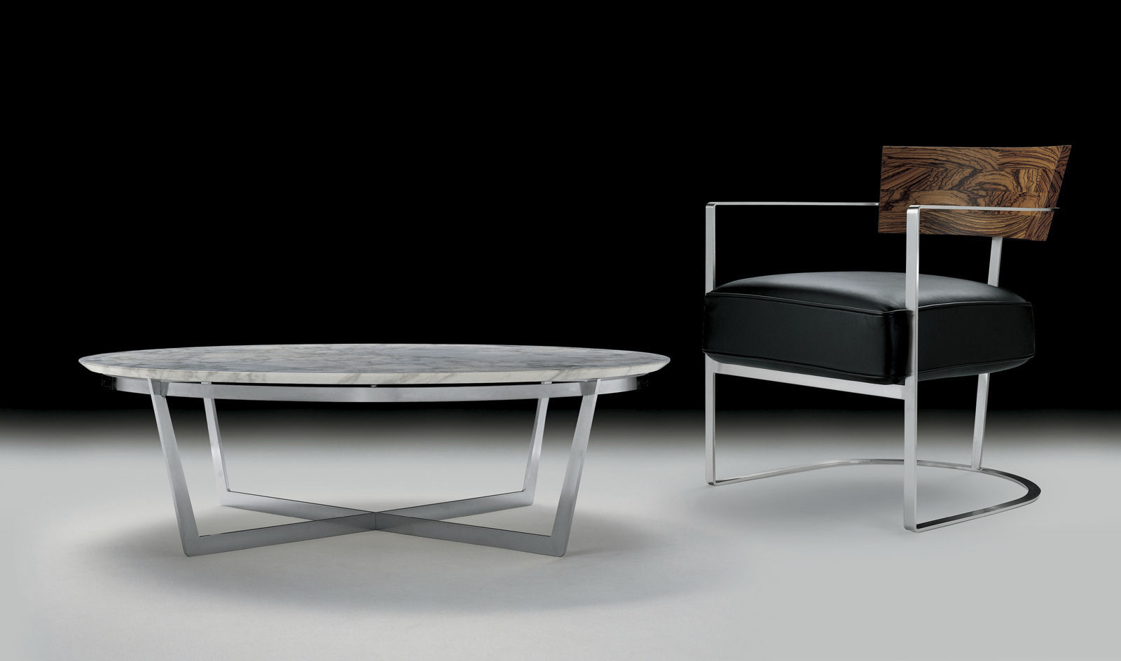 ... Contemporary Coffee Table / Metal / Wooden / Marble VITO FLEXFORM