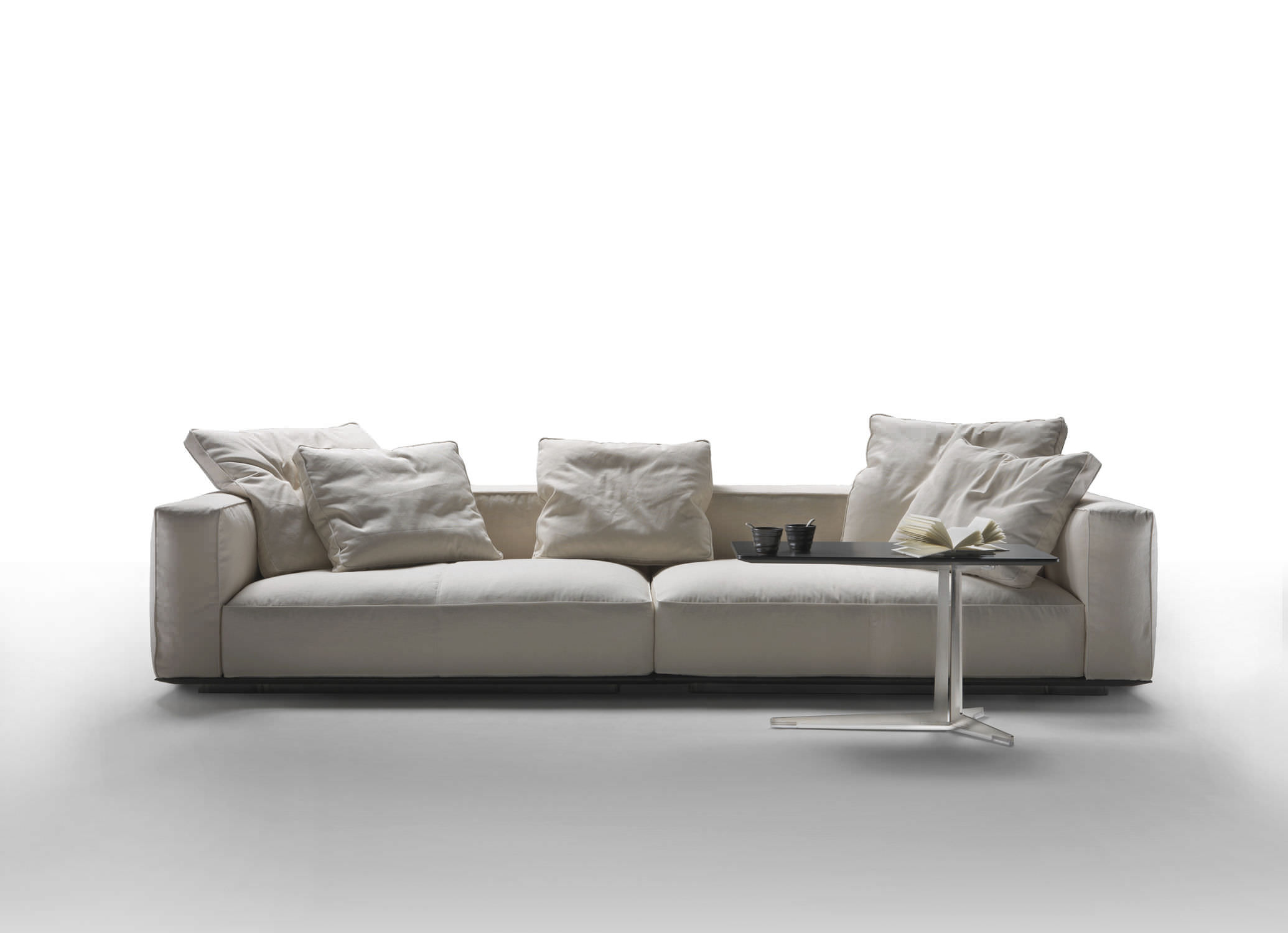 Modular sofa / corner / contemporary / fabric - GRANDEMARE - FLEXFORM