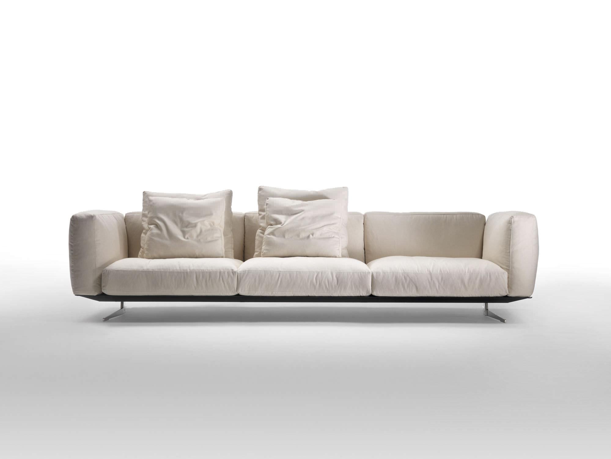 Modular sofa contemporary leather fabric SOFT DREAM