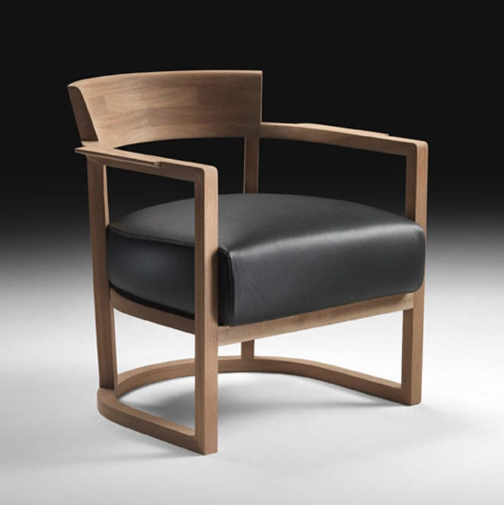 Contemporary Armchair / Solid Wood / Fabric / Leather BARCHETTA FLEXFORM ...