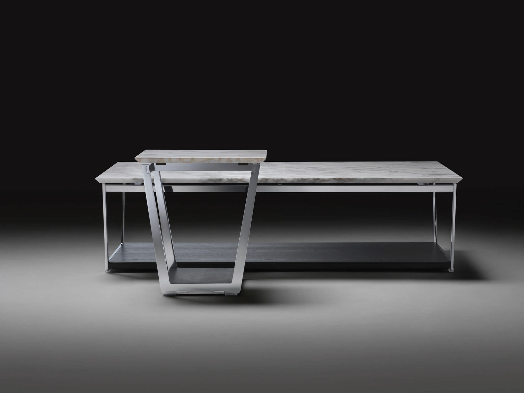 Italian Design Coffee Tables Coffee Table Contemporary Metal Wooden Vito Flexform